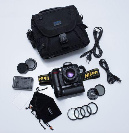 NIKON D90 + Nikkor 50mm 1.8D + grip + Hoya HD + inne