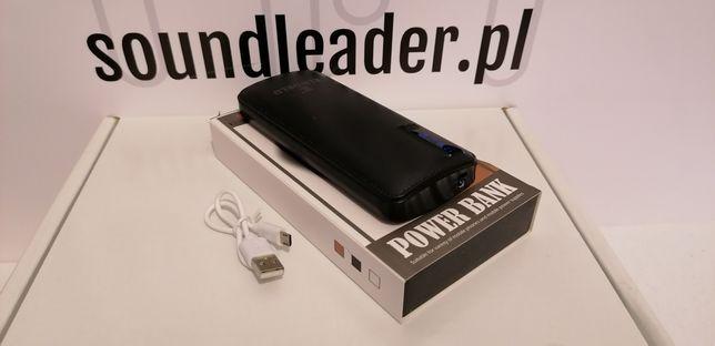 Powerbank 20.000mAh 3x USB 2.1A szybkie ładowanie latarka led wskaźnik