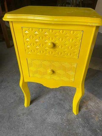 mesa de apoio com duas gavetas mesa cabeceira
