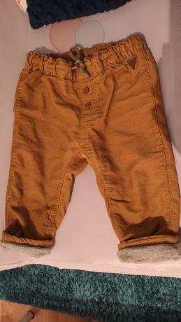 Spodnie sztruksowe, ocieplane h&m 74