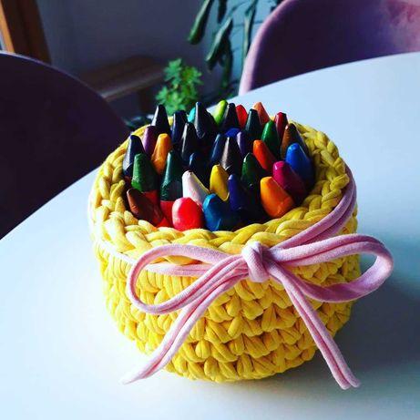 Cestas em Crochet Moderno