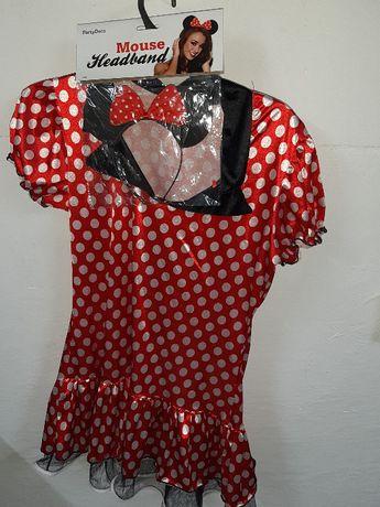 strój karnawałowy kostium Myszka Mini Minnie ,