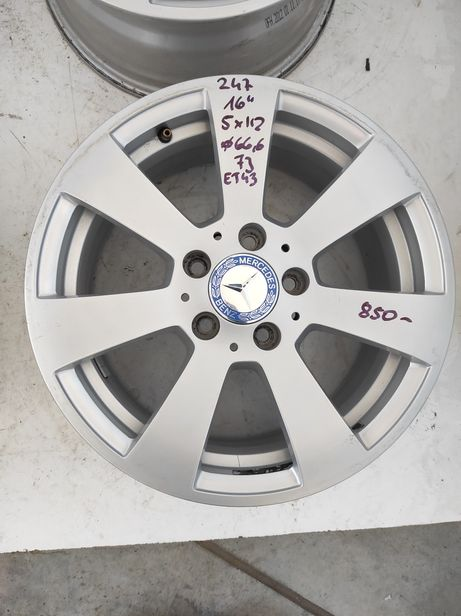 247 Felgi aluminiowe ORYGINAŁ MERCEDES R 16 5x112 otwór 66,6