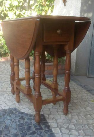 Mesa de abas em mogno