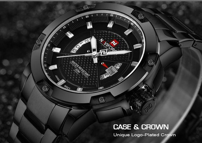 Мегакрутые кварцевые мужские наручные часы NaviForce ОРИГИНАЛ