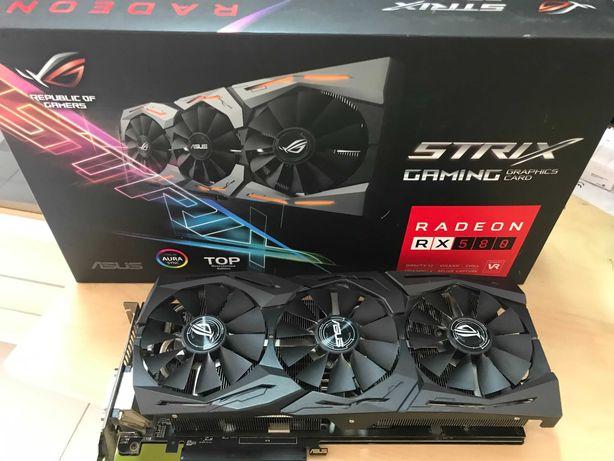Placa Gráfica Asus Radeon RX580 8gb Strix Gaming Top
