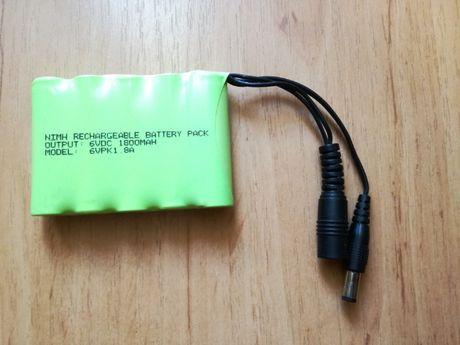 Akumulator 6V 1800mAh NiMH ładowarka 6V
