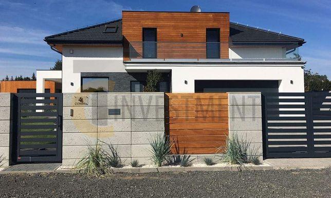 Bloczki ogrodzeniowe betonowe - Bloczek gładki beton architektoniczny