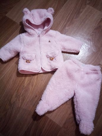 Теплый костюм 3-6 месяцев