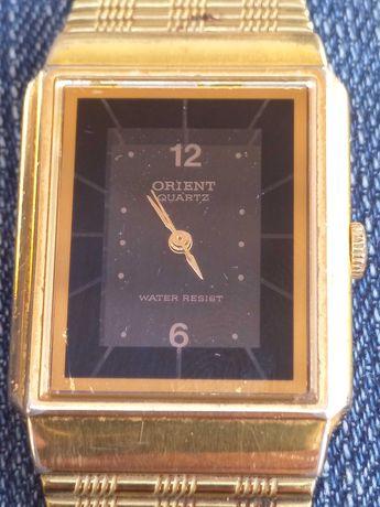 Relógio Orient original vintage dourado a funcionar