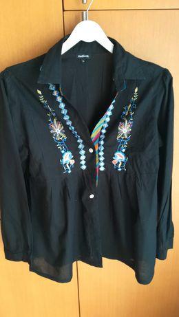 Camisa senhora bordada Natura L
