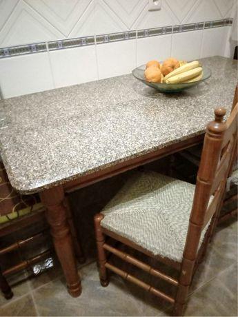 Mesa cozinha + 6 cadeiras