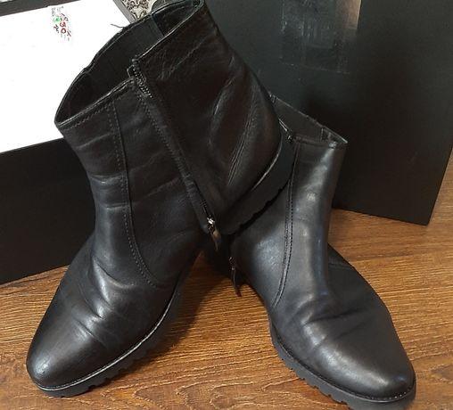Ботинки мужские черные зимние фирма FLN