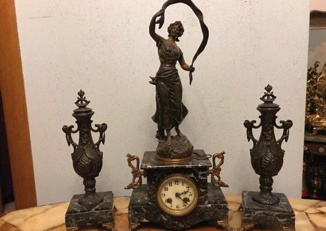Антикварные каминные часы с канделябрами !!!