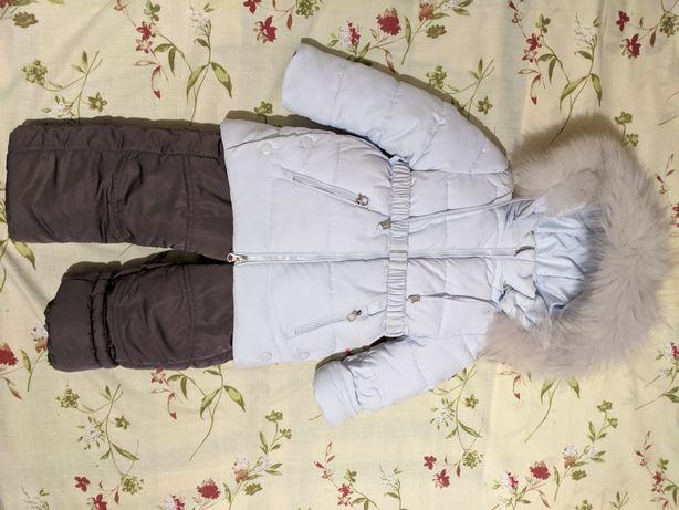 Раздельный зимний комбинезон, куртка, полукомбинезон Lebo Junior