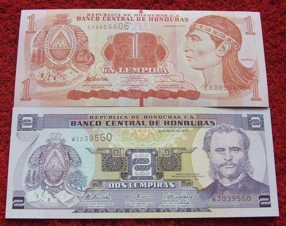 HONDURAS Kolekcjonerskie Banknoty - 2 sztuki UNC