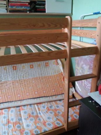 Łóżko piętrowe drewniane 200dł/100sze/160w