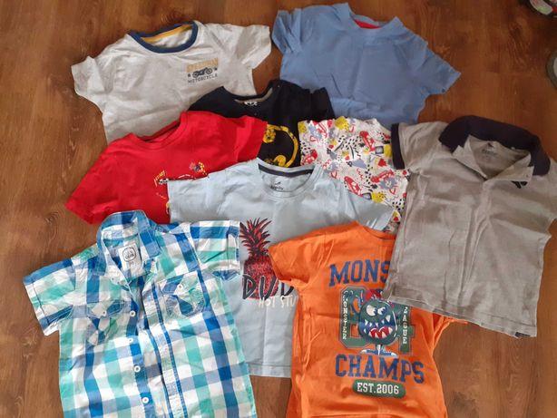 Mix koszulek z krotkim rekawem dla chłopca rozm 98/104