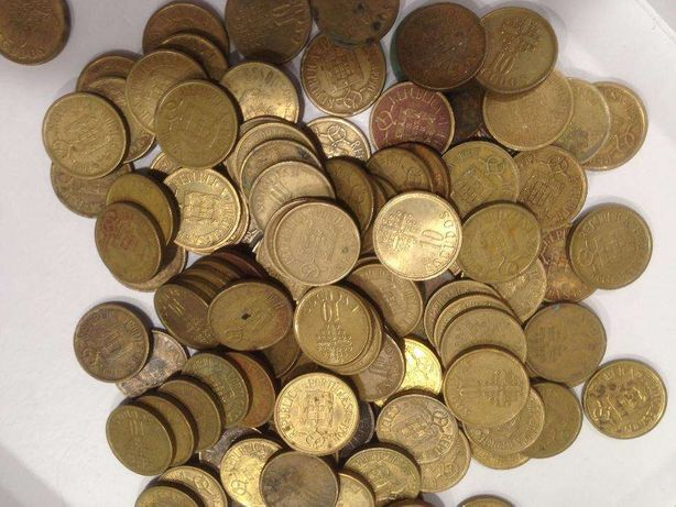 Moedas de10$00 Latão/Niquel ao Kilo