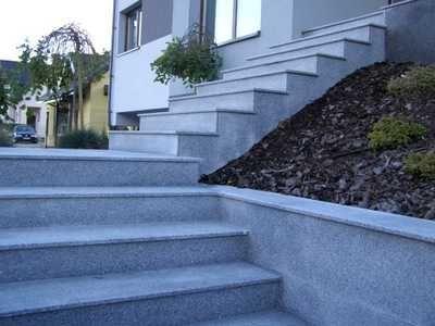 Gotowa Stopnica Granit Schody Klatki 150x33x2/3 cm Poler/Płomieniowane