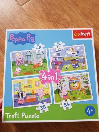 Puzzle Peppa duże 4w1 plus małe nowe