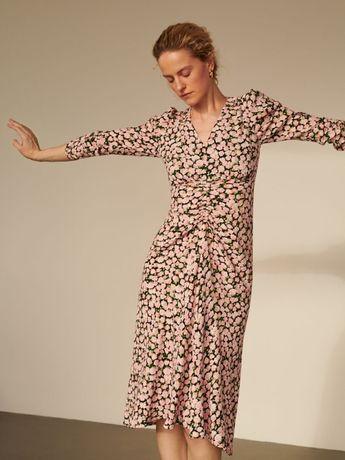 Kwiecista sukienka marki Reserved rozmiar 36 założona raz