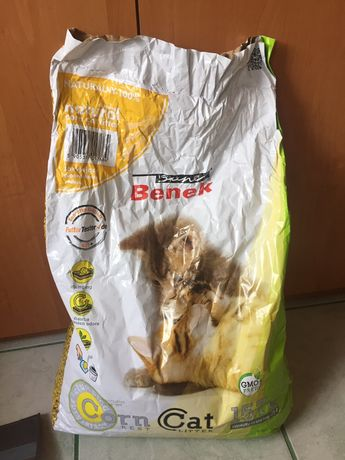 Żwirek kukurydziany dla kota
