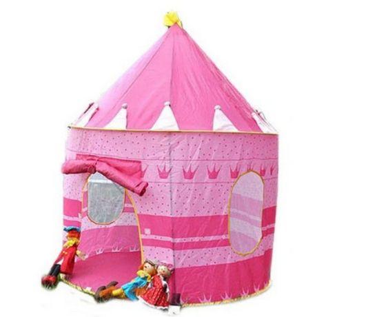Детская большая игровая палатка дитячий намет, шатер виг вам розовая