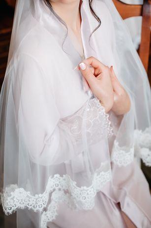 Халат ( пеньюар) на утро невесты