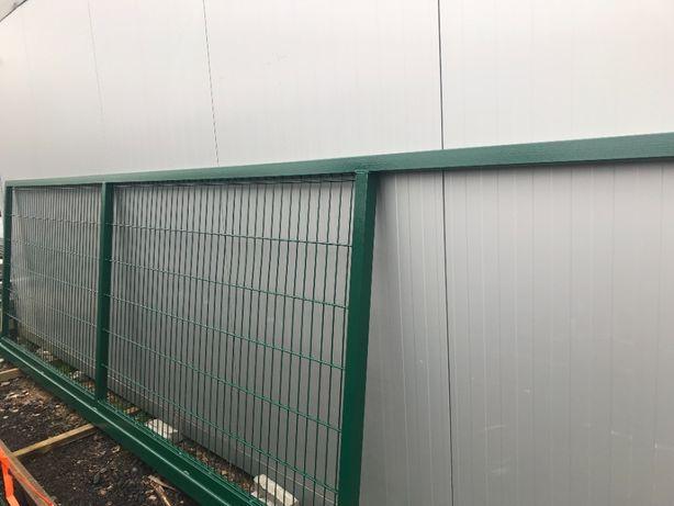 Brama przesuwna OCYNK OGNIOWY - Zestaw- H-1,5 L-4m- PRODUCENT-Szczecin