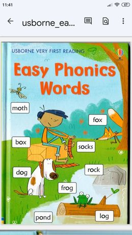 Книги Usborne very first reading First Phonics Words и Easy Phonics