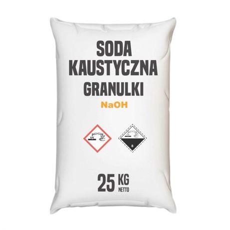 Wodorotlenek Sodu granulat, Soda Kaustyczna granulki 100 kg (4x25 kg)