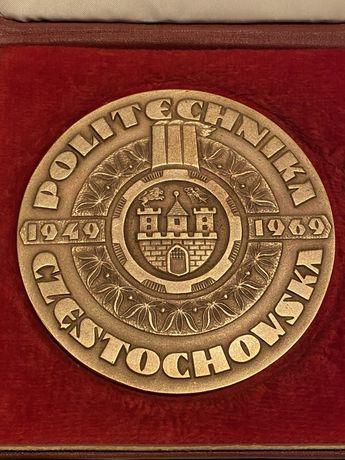 Medal 20 Lecie Politechniki Częstochowskiej 1969. Mennica Państwowa