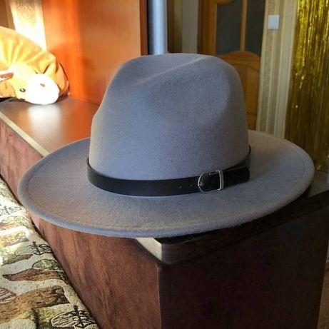 Шляпа. фетровая серая.