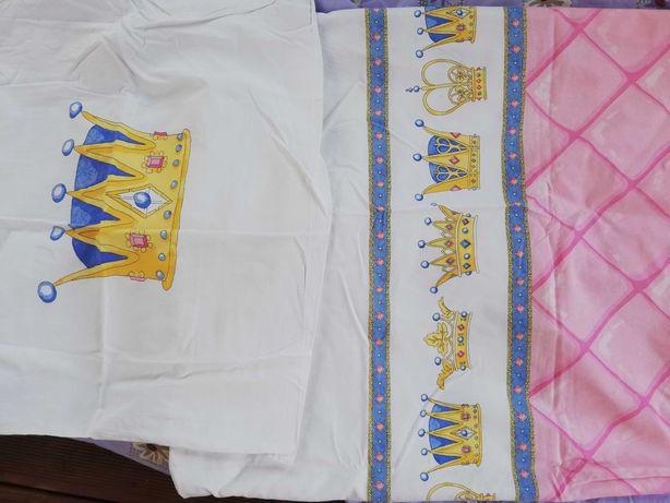 Komplet pościeli dziecięcej  55x70 140x200 ikea księżniczka