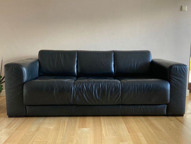 Skórzana kanapa z funkcją spania