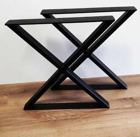 Nogi metalowe typ X 41 x 40 cm profil 40 x 20