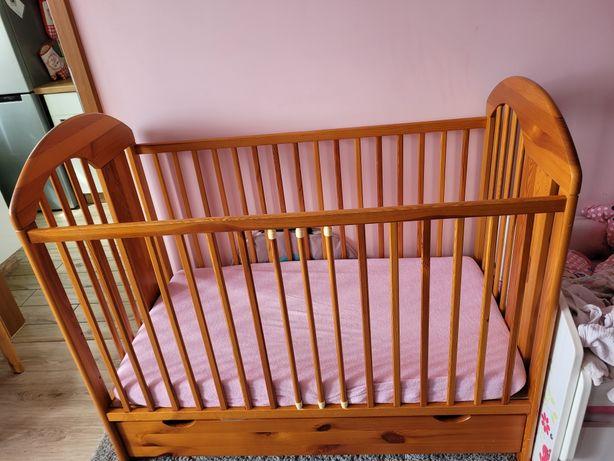 Łóżeczko drewniane 120x60