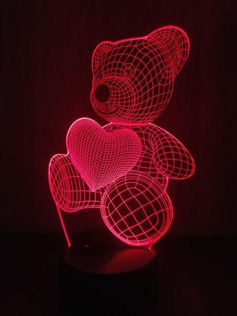 3D ночник, светильник, лампа, с эффектом 3d для домашнего уюта