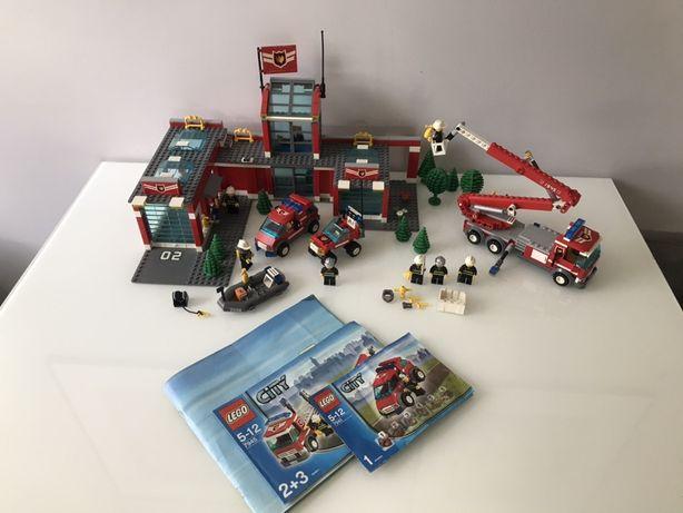 LEGO CITY 7945 + 7241 + dodatki BAZA STRAŻACKA