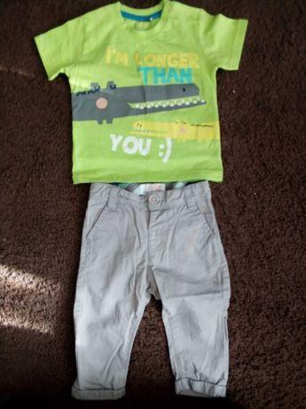 Zestaw cool club bluzeczka i spodnie r. 74