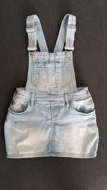 Джинсовой комбинезон юбка сарафан H&M на 4-5 лет