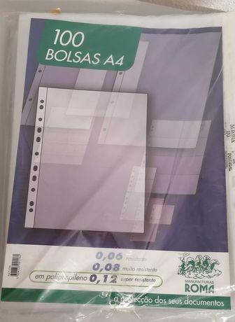 Micas, Bolsas para documentos A4, pack de 100, novas, por 7€