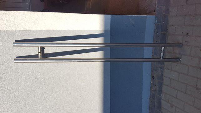 Pochwyt uchwyt antaba okrągła 150cm 160cm srebrna
