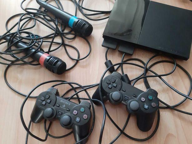 Konsola Ps2, dwa pady, dwa mikrofony, 19 gier, 100% sprawne