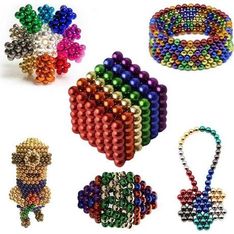 Игрушка неокубик радуга 216 шариков магнитный