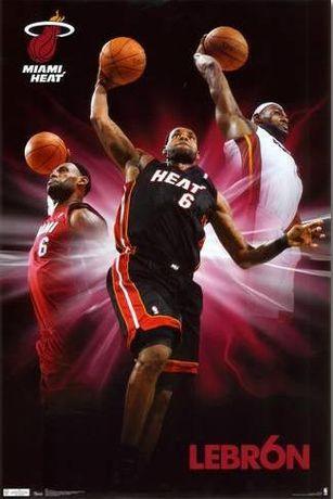 Lote 2 Posters novos Miami Heat Lebron
