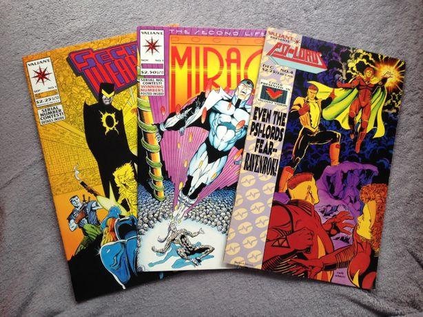 Komiksy amerykańskie SECRET WEAPONS, PSI-LORDS, Doctor MIRAGE, Valiant