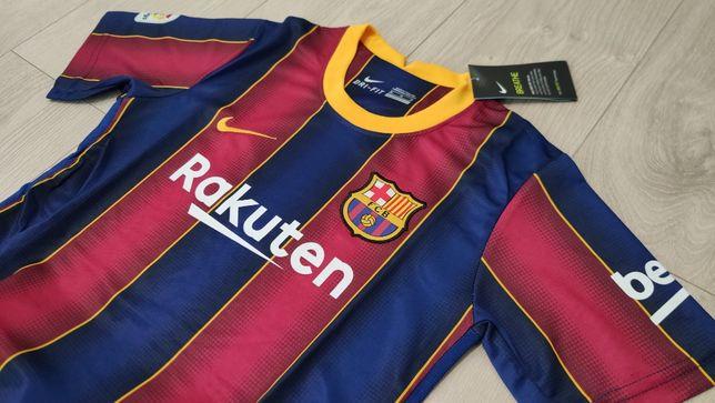 Z POLSKI Dla Dzieci Nowa Koszulka KOMPLET FC BARCELONA 20/21 dziecięcy