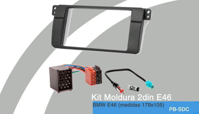 Aro/Mascara Radio 2DIN NOVO p/BMW E46